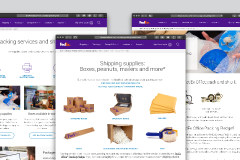 FedEx Packing and Packaging website